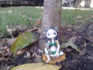 Under tree yogini!